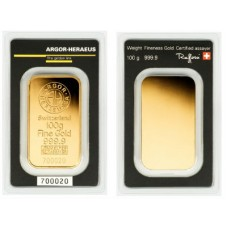 Argor-Heraeus Gold Bar - 100g